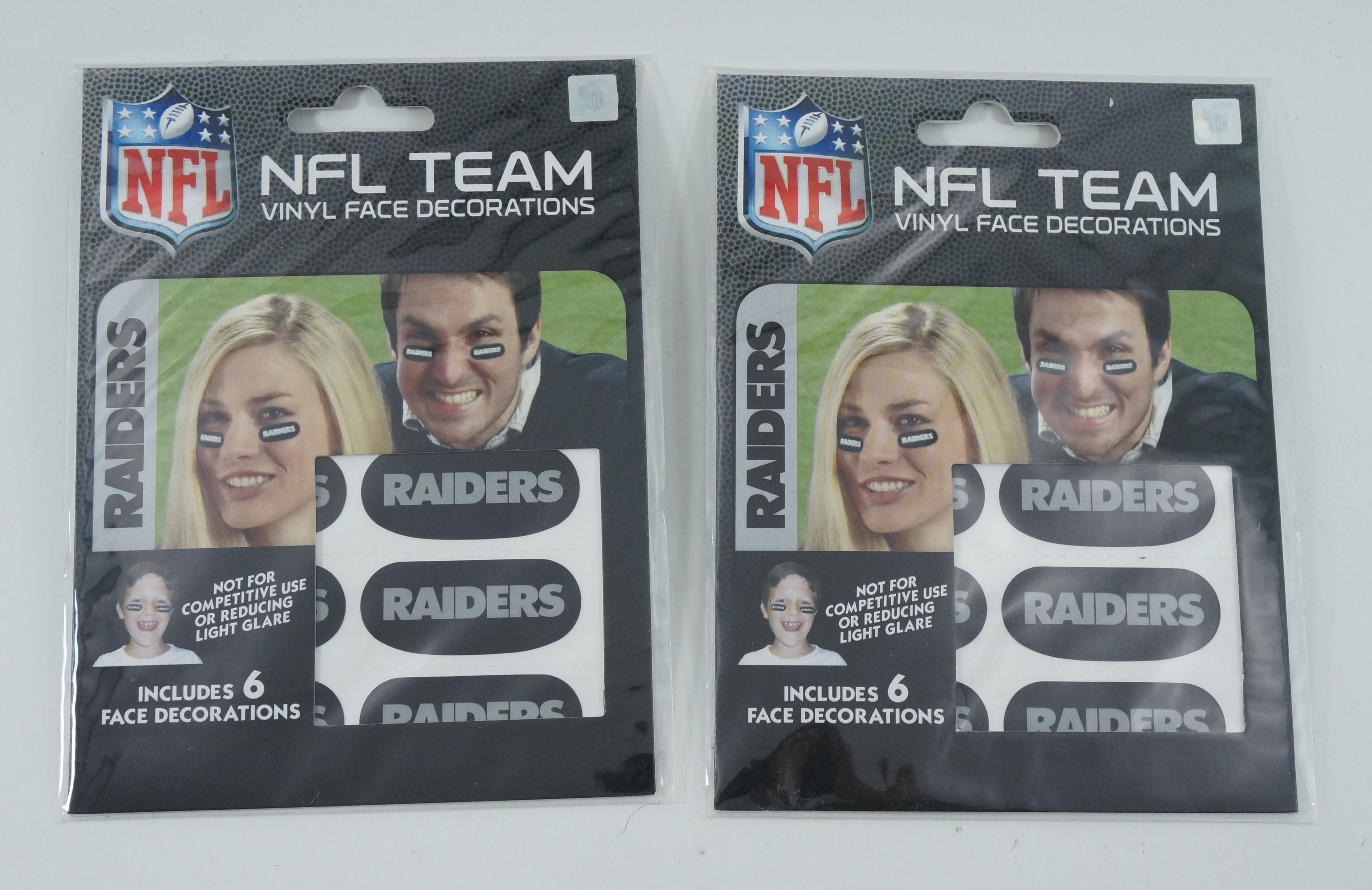 Details about Lot of (2) Oakland Raiders Team Logo NFL Eye Black Strips (3  Pair)